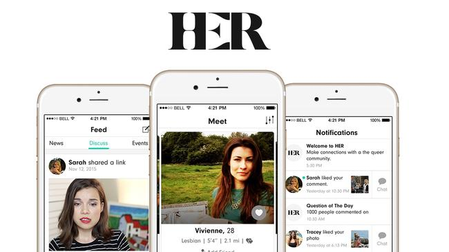 lesbian dating app au Her is an award-winning lesbian app, it's the largest dating app for lesbians looking to meet other females, in a quick easy way join her free lesbian.