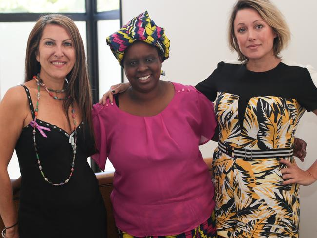 Innovation consultant Anne Marie Elias is pictured with Uber drivers Ruth Pasi and Karen Day.