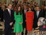 The Duke and Duchess of Cambridge, William and Catherine, attending a reception hosted by the Prime Minister of Australia Tony Abbott and his wife Margie, at Parliament House in Canberra. Picture: Gary Ramage