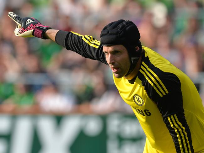 Petr Cech at a preseason match between Werder Bremen and Chelsea in Bremen, Germany.