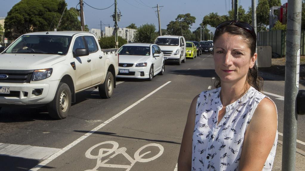 Joanne Gellel is concerned about traffic congestion in the City of Whittlesea. Picture: Richard Serong