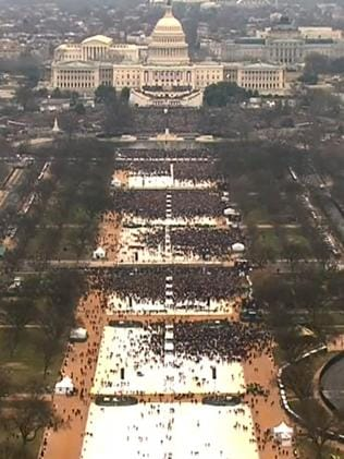 The historic National Mall during Mr Trump's inauguration. Picture: Supplied