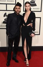 The Weeknd and Bella Hadid attend The 58th GRAMMY Awards at Staples Center on February 15, 2016 in Los Angeles. Picture: AP