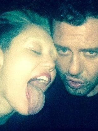 """""""Lets burn in hell"""" mertalas. Picture: Miley Cyrus/Instagram"""