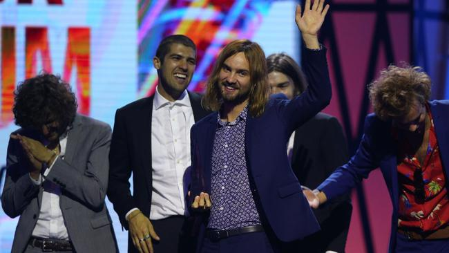 Juggernauts ... Rock group Tame Impala have had a massive night winning three awards. Picture: Graham Denholm/Getty Images