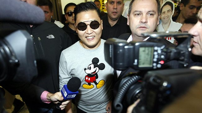 """The Korean one hit wonder of pop Psy who sings """"Gangam Style"""" arrives in Sydney for appearances on Channel 7 over the next few days Picture: John Grainger"""