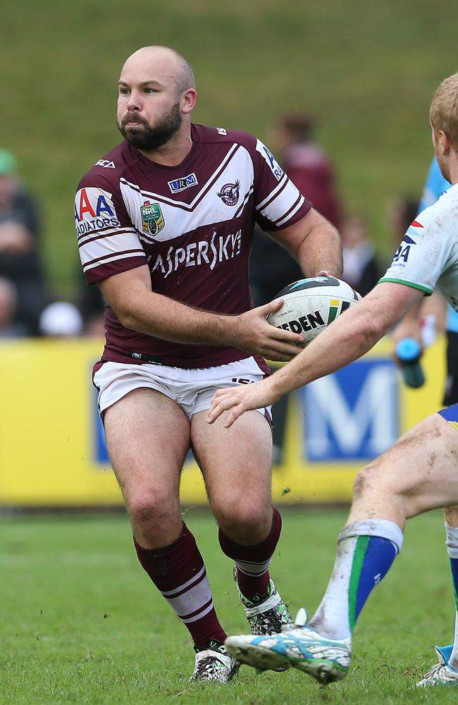 Manly's Glenn Stewart in action.