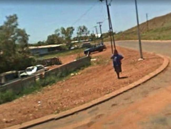 A street in the tiny town of Roebourne, Western Australia, which is in the grip of a paedophile epidemic. Picture: Google.