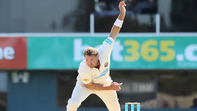 AN Ashes 'must': Ryan Harris in full flight against the Tigers. Picture: Leigh Winburn
