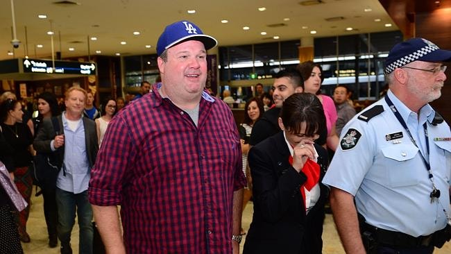 Modern Family cast member Eric Stonestreet arrives at Sydney Airport. Photo Jeremy Piper