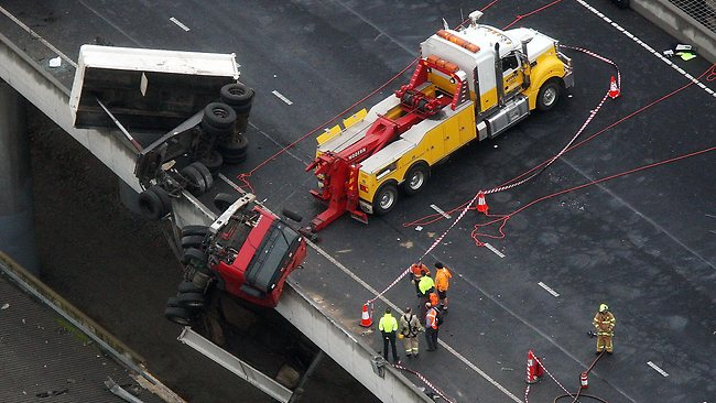 Aerial pictures of Citylink Truck accident Picture: Oorloff Norm