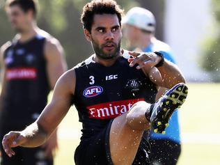 Collingwood AFL training