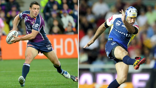 The halves: Cooper Cronk and Johnathan Thurston.