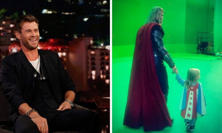 Chris Hemsworth's son tried to Thor and ended up in hospital