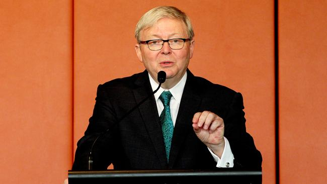 Former PM Kevin Rudd is a fan of Hollywood heartthrob Leonardo DiCaprio's stance on climate change action.