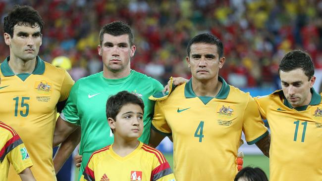 Australia V's Chile at Arena Pantanal, Group B in the 2014 World Cup. Picture: George Salpigtidis