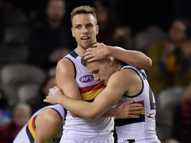 Brodie Smith and the Crows continued their reign at the top of the ladder.
