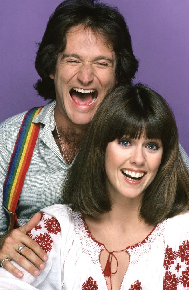 Robin Williams 'flashed, humped and grabbed' Mork and Mindy co-star Pam Dawber, she says, but it made her laugh. Picture: Jim Britt/ABC via Getty Images