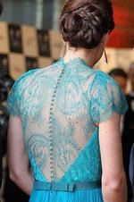 The back detail of Kate's stunning gown. Picture: Getty