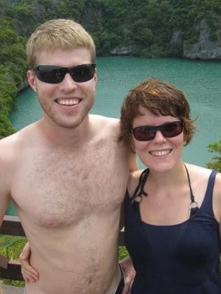 Rob pictured with his partner Christine.