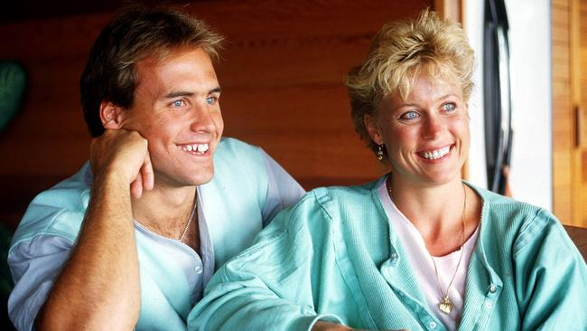 When they were engaged ... Grant Kenny with Lisa Curry in 1985.