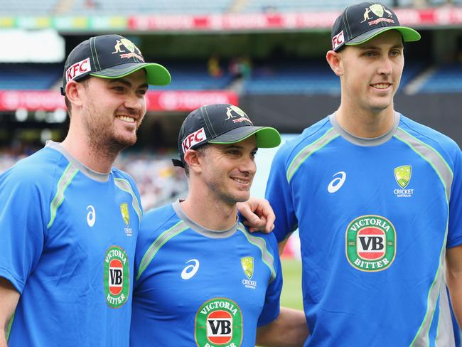 Ashton Turner (L) Michael Klinger (C) and Billy Stanlake are in the final 11.