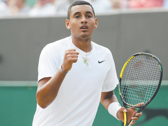 Unlike Tomic, Nick Kyrgios is genuinely hungry for success. (AP Photo/Alastair Grant)