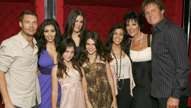 Ryan Seacrest and the Kardashian/Jenner family in 2007.