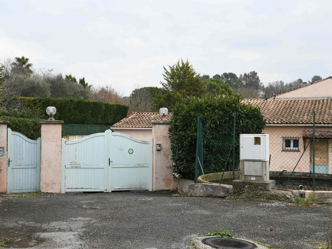 The villa where a 72-year-old man, suspected of being involved in the heist, was arrested.