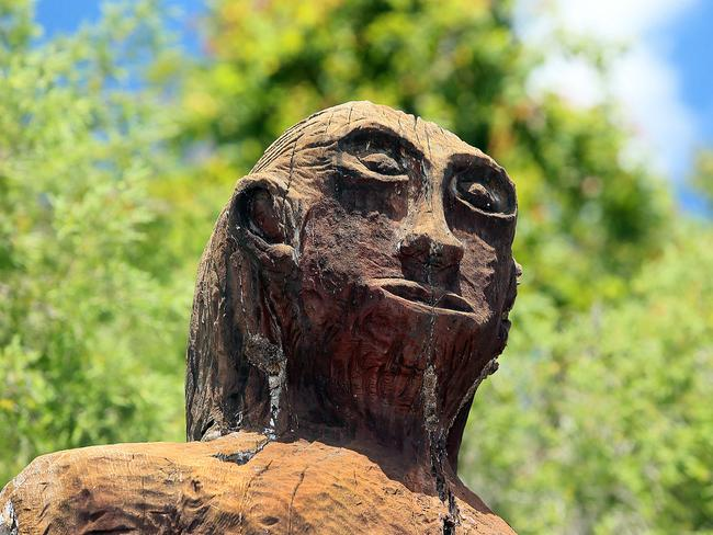 The mythical Yowie has been immortalised with a statue at Kilcoy in the Brisbane Valley.