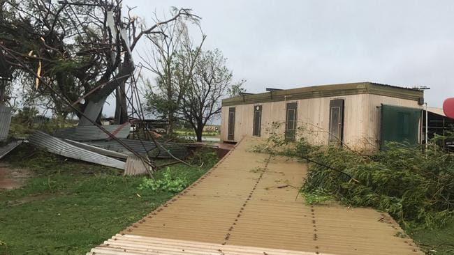 The roof of David's shed was ripped off. Picture: David Stoate