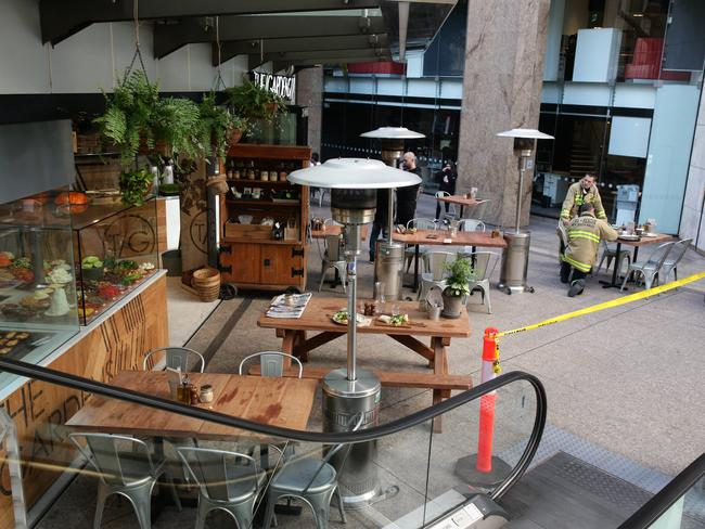 The Gardens cafe located in food court on corner of George Street and Grosvenor Street.