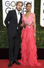 Zoe Saldana and Marco Perego attend the 74th Annual Golden Globe Awards at The Beverly Hilton Hotel on January 8, 2017 in Beverly Hills, California. Picture: Getty