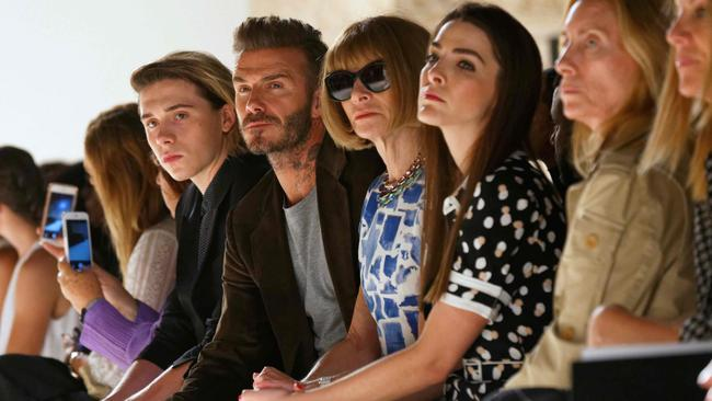 Could the fashion front row be any less happy? New York Fashion week 2016. Picture: Trevor Collens / AFP Photo