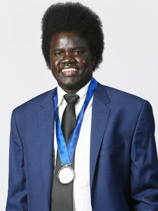 Aguek Nyok has been awarded a Pride of Australia medal. Picture: Liam Kidston