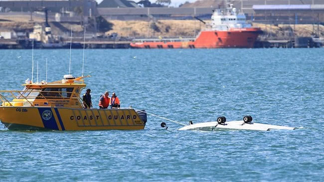 The tourist seaplane located on Geelong's waterfront crashed into Corio Bay. Picture: Peter Ristevski