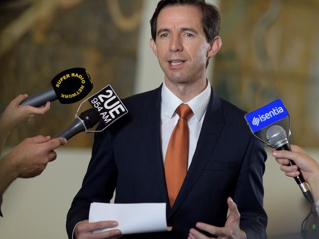 Education Minister Simon Birmingham. Picture: AAP/Lukas Coch