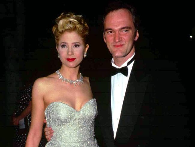 Mira Sorvino and director Quentin Tarantino at the 1996 Oscars when she won her Best Supporting Actress award for Mighty Aphrodite. Picture: Supplied