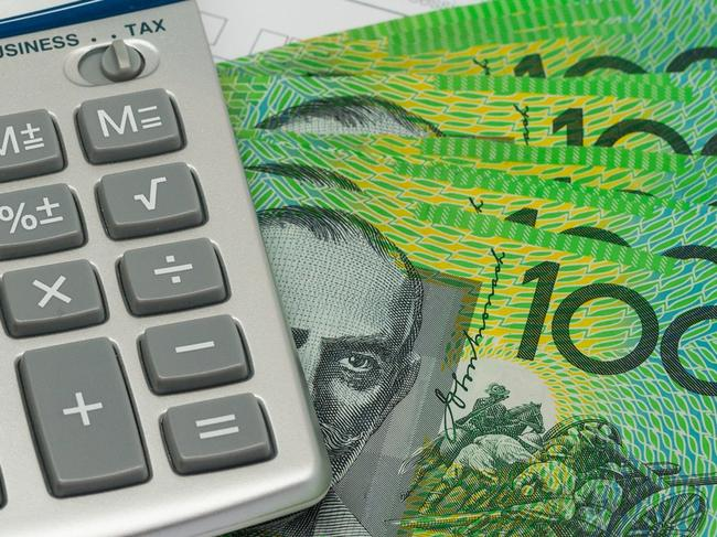 Finance and Wealth, Australian Currency and Calculator