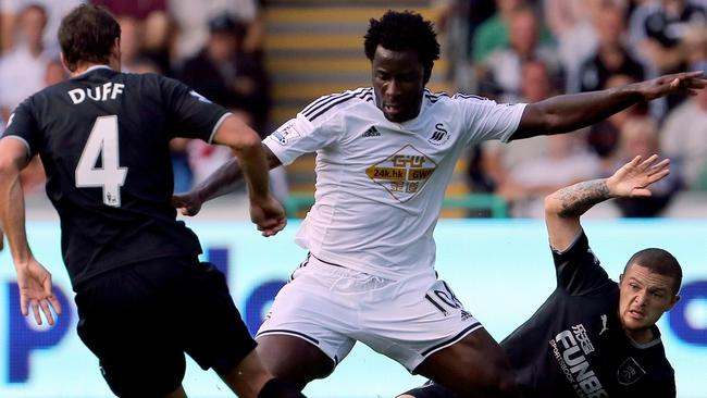 Swansea City held on to Ivorian striker Wilfried Bony as Monaco came calling.