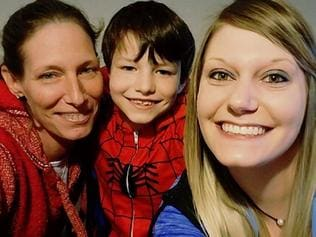 Tracy Dowdy Fain, left, suffered a stroke while at an appointment with her son Ethan Fain. Picture:
