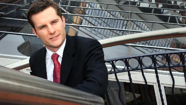 Fresh faced: Rising political star Alex Hawke (Pic: Lisa Williams)
