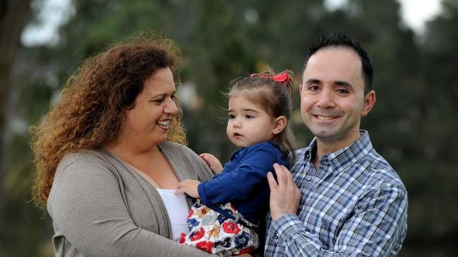 Working life ... Michael Chaaya, pictured with his wife Michelle Rowland, the federal MP for the western Sydney seat of Greenway, and daughter Octavia, will be participating in the documentary. Picture: News Corp Australia