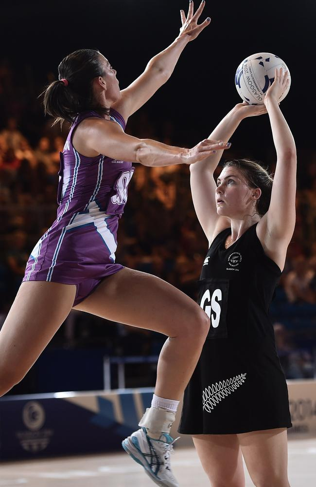 Ellen Halpenny (R) went off with an ankle complaint, one of New Zealand's many injury concerns.