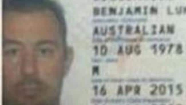 The passport photo of 60 Minutes crew member Ben Williamson.
