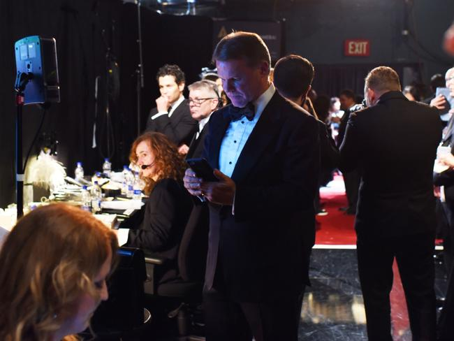 The moment Brian Cullinan was distracted backstage. Picture: Splash
