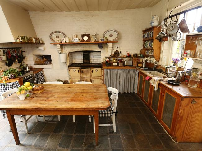 Once part of the servant's quarters, the kitchen is now the hub of the household.