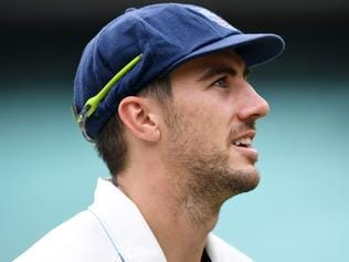 NSW bowler Pat Cummins leaves the field during the Sheffield Shield match between NSW and South Australia at the Sydney Cricket Ground in Sydney on Wednesday, March 8, 2017. (AAP Image/Paul Miller) NO ARCHIVING