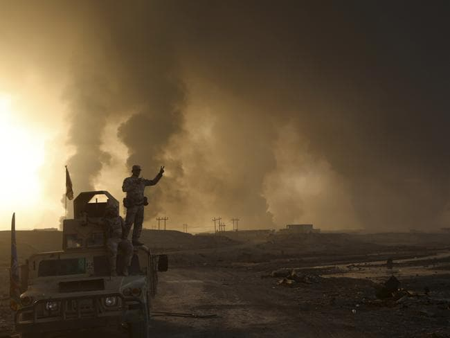 The pace of operations slowed on the second day of battle as Iraqi forces began pushing towards larger villages and encountering civilian populations.