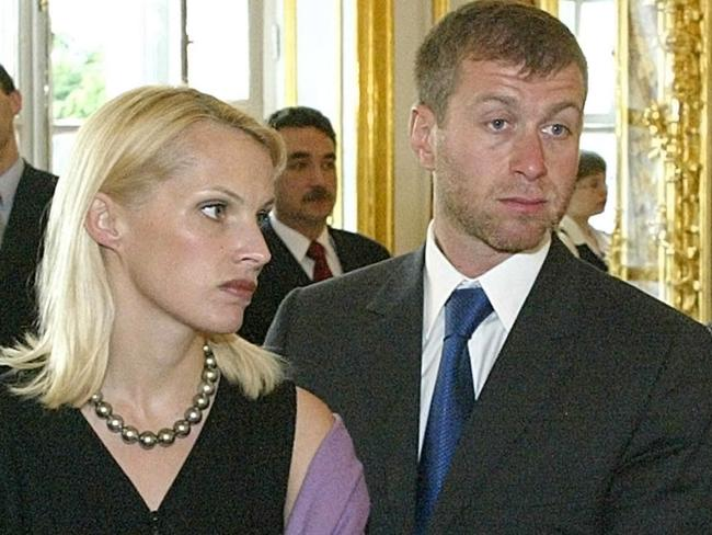 Roman Abramovich with second wife Irina Malandina.
